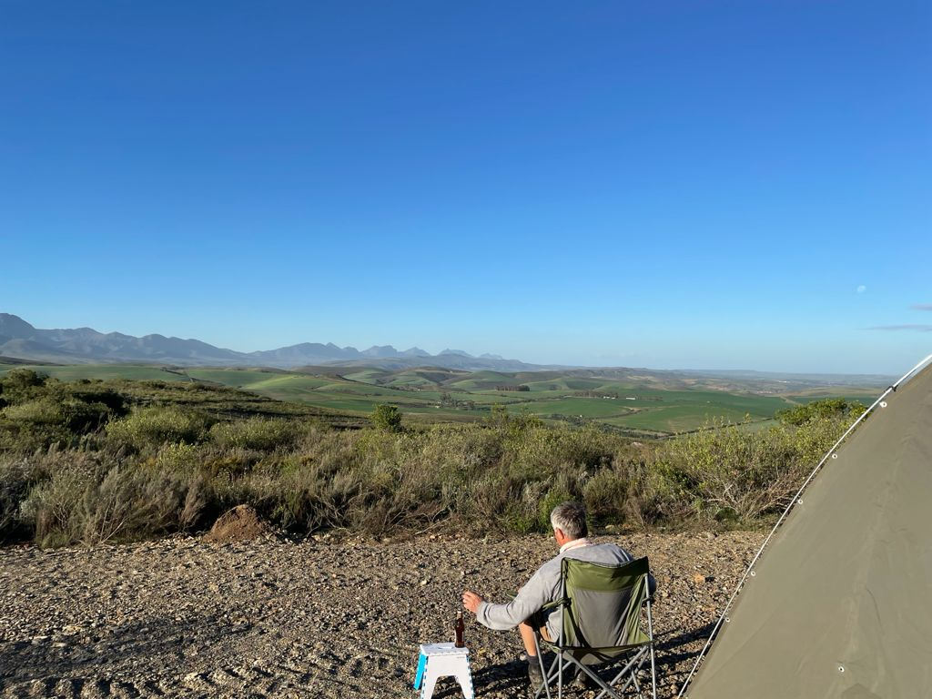Camping spot with view